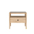 Click to swap image: <strong>Ethnicraft Spindle Bedside-Oak </strong></br>Top Material - Smokey Glass</br>Case Material - Oak</br>Case Colour - Natural</br>Drawer Configuration - 1 Drawer