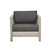 Click to swap image: <strong>Marina Cube SofaCh-DkGrey/Aged </strong></br>Upholstery Material - Sunproof</br>Frame Material - Solid Teak</br>Frame Colour - Aged Teak</br>Seat Height - 400mm (with cushion)</br>Upholstery Colour - Dark Grey</br>Cushion insert Material - Standard Foam (Polyester)