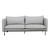 Click to swap image: <strong>Vittoria Curve 3 Str-Pale Grey - RRP-$4745</strong></br>Leg Finish - Powdercoated</br>Cushion Material - Feather & Foam</br>Upholstery Colour - Pale Grey</br>Leg Colour - Matt Black</br>Upholstery Material - 20% Linen, 80% Viscose</br>Arm Height - 755mm</br>Leg Material - Metal</br>Cushion Construction - Sofa Cushion Profile - Medium