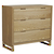 Click to swap image: <strong>Viva Dresser - Natural Ash - RRP-$2723</strong></br>Case Material - Ash Veneer</br>Drawer Configuration - 3</br>Case Colour - Natural</br>Leg Material - Solid Ash</br>Drawer Internal Dimensions - W880 x D340 x H145mm</br>Leg Height - 120mm