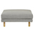 Click to swap image: <strong>Vittoria Iris Ottoman-Pavement - RRP-$1283</strong></br>Leg Colour - Natural</br>Upholstery Colour - Pavement</br>Filling Material - Foam & Feather</br>Leg Material - Solid Ash</br>Upholstery Material - Fabric (70% Polyester, 30% Acrylic)</br>Upholstery Configuration - Removable cover