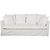 Click to swap image: <strong>Vittoria Slipcover 3 Str-Milk - RRP-$5236</strong></br>Upholstery Colour - Milk</br>Filling Material - Foam & Feathers</br>Cushion Construction - Sofa Cushion Profile - Soft</br>Upholstery Configuration - Removable Slip cover</br>Upholstery Material - Fabric (100% Linen)
