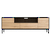 Click to swap image: <strong>Ethnicraft B/Bird TV Unit-Ok </strong></br>Leg Colour - Black</br>Leg Material - Metal</br>Door Colour - Natural</br>Case Colour - Black</br>Leg Finish - Powdercoated</br>Door Material - Oak</br>Case Material - Oak</br>Case Configuration - 1 Door, 1 Flip Down Door & 2 Drawers