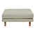 Click to swap image: <strong>Vittoria Iris Ottoman - Stone - RRP-$1283</strong></br>Upholstery Material - Fabric (100% Polyester)</br>Leg Material - Solid Ash</br>Filling Material - Foam & Feather</br>Upholstery Colour - Stone</br>Leg Colour - Natural</br>Upholstery Configuration - Removable cover