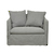 Click to swap image: <strong>Vittoria Slipcover 1Str-Wsmoke - RRP-$2929</strong></br>Cushion Construction - Sofa Cushion Profile - Soft</br>Filling Material - Foam & Feathers</br>Upholstery Material - Fabric (100% Linen)</br>Upholstery Colour - Washed Smoke</br>Upholstery Configuration - Removable Slip cover