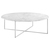 Click to swap image: <strong>Elle Luxe Coffee Tbl-White/Whi - RRP-$2698</strong></br>Frame Finish - Powdercoated</br>Frame Material - Metal</br>Top Material - Carrara Marble (Italian)</br>Top Finish - Matt</br>Frame Colour - White</br>Top Colour - White