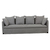 Click to swap image: <strong>Vittoria Slipcover 4Str-Wsmoke - RRP-$5938</strong></br>Filling Material - Foam & Feathers</br>Upholstery Material - Fabric (100% Linen)</br>Upholstery Configuration - Removable Slip cover</br>Upholstery Colour - Washed Smoke</br>Cushion Construction - Sofa Cushion Profile - Soft