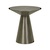 Click to swap image: <strong>Elle Hourglass SideTb-Gunmetal - RRP-$1927</strong></br>Base Dimensions - Width: 280mm</br>Base Material - Stainless Steel</br>Base Colour - Gunmetal