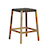 Click to swap image: Willow Angled Barstool-Teak/Black -RRP $681
