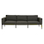 Click to swap image: <strong>Montego 3 Seater-Anth/Charcoal - RRP-$6666</strong></br>Base Colour - Anthracite Bronze</br>Leg Height - 290mm</br>Upholstery Colour - Charcoal</br>Base Finish - Powdercoated (Textured)</br>Base Material - Aluminium</br>Seat Height - 400mm</br>Filling Material - Quick Dry Foam (Outdoor)</br>Upholstery Material - Sunbrella Fabric</br>Arm Height - 600mm
