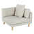 Click to swap image: <strong>Vittoria Iris CornerSofa-Stone - RRP-$2074</strong></br>Upholstery Configuration - Removable cover</br>Frame Weight - 35kg</br>Upholstery Construction - Removable Upholstery Cover</br>Upholstery Colour - Stone</br>Seat Configuration - 370mm seat height</br>Product Configuration - Joining Brackets Included</br>Leg Material - Solid Ash</br>Upholstery Material - Fabric (100% Polyester)</br>Leg Colour - Natural</br>Cushion Construction - Sofa Cushion Profile - Medium</br>Filling Material - Foam & Feather