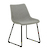 Click to swap image: <strong>Arnold Dining Ch-Bk/Grey Spec - RRP-$538</strong></br>Leg Material - Metal</br>Upholstery Colour - Grey Speckle</br>Leg Finish - Powdercoated</br>Seat Colour - Matt Black</br>Chair Stackable - No</br>Upholstery Material - Fabric (100% Polyester)</br>Seat Height - 460mm