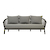Click to swap image: <strong>Maui 3 Seater Sofa-Shadow/Blck - RRP-$5785</strong></br>Seat Height - 400mm Seat Height</br>Arm Height - 600mm Arm Height</br>Frame Material - Aluminium</br>Weaving Material - 14mm Rope</br>Cushion cover Material - Sunproof Fabric</br>Frame Colour - Black</br>Cushion cover Colour - Shadow</br>Cushion insert Material - Quick Dry Foam