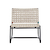 Click to swap image: <strong>Marina Sq Occ Ch-Graphit/Shell </strong></br>Chair Max. Weight - 120kg</br>Frame Stackable - No</br>Frame Material - Aluminium</br>Weaving Colour - Whiteshell</br>Frame Colour - Graphite</br>Frame Finish - Powdercoated</br>Seat Height - 400mm</br>Weaving Material - Resin Straw