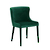 Click to swap image: <strong>Claudia Dining Ch-DarkGrnVelve - RRP-$696</strong></br>Upholstery Material - Fabric (100% Polyester)</br>Chair Max. Weight - 120kg</br>Seat Configuration - 460mm seat height</br>Upholstery Colour - Dark Green Velvet</br>Frame Material - Metal</br>Chair Stackable - No