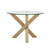 Click to swap image: <strong>Hudson Sml Rnd D/Table-Natural - RRP-$2388</strong></br>Top Material - 15mm Tempered Glass</br>Base Colour - Natural Ash</br>Base Material - Ash Veneer