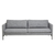 Click to swap image: <strong>Bogart Square 3Str - Storm - RRP-$4135</strong></br>Leg Material - Aluminium</br>Frame Material - Poplar & Pine</br>Leg Colour - Matt Black Powdercoated</br>Cushion Construction - Sofa Cushion Profile - Soft</br>Upholstery Colour - Storm</br>Seat Configuration - Seat Height 430mm</br>Arm Height - 650mm</br>Upholstery Material - 90% Polyester, 10% Cotton