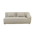 Click to swap image: <strong>Felix Round 2Str Rit-LightGrey - RRP-$3899</strong></br>Filling Material - Feather and Foam Fill</br>Arm Height - Back Arm Height - 750mm</br>Upholstery Composition - Fabric (100% Polyester)</br>Upholstery Colour - Light Grey Tweed</br>Arm Height - Front Arm Height - 500mm</br>Seat Height - 420mm Seat Height</br>Cushion Construction - Sofa Cushion Profile - Medium</br>Product Configuration - Joining Brackets Included</br>Upholstery Construction - Removable Upholstery Cover
