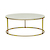 Click to swap image: <strong>Elle Round Coffee-BshGold/Whit - RRP-$2643</strong></br>Frame Material - Stainless Steel</br>Frame Colour - Brushed Gold</br>Top Material - Carrara Marble (Italian)</br>Top Finish - Matt</br>Top Colour - White