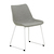 Click to swap image: <strong>Arnold Dining Ch- Wh/Grey Spec - RRP-$538</strong></br>Leg Material - Metal</br>Leg Colour - White</br>Seat Material - Fabric (100% Polyester)</br>Seat Height - 470mm</br>Chair Stackable - No</br>Leg Finish - Powdercoated</br>Leg Finish - Matt</br>Seat Colour - Grey Speckle