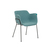 Click to swap image: <strong>Etta Arm Ch-Black/ Teal - RRP-$715</strong></br>Dimensions: - W600 x D620 x H760mm</br>Chair Stackable - No</br>Leg Material - Metal</br>Leg Colour - Matt Black Powdercoated</br>Seat Height - 460mm</br>Upholstery Material - Fabric (100% Polyester)</br>Upholstery Colour - Teal