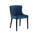 Click to swap image: <strong>Claudia Dining Chair-NavyVelve - RRP-$696</strong></br>Chair Max. Weight - 120kg</br>Upholstery Colour - Navy Velvet</br>Upholstery Material - Fabric (100% Polyester)</br>Frame Material - Metal</br>Seat Configuration - 460mm seat height</br>Chair Stackable - No