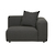 Click to swap image: <strong>Felix Curve 1Str Rit-MeteorGr - RRP-$2717</strong></br>Seat Height - 390mm</br>Upholstery Composition - 100% Polyester</br>Arm Height - 590mm</br>Cushion Construction - Sofa Cushion Profile - Medium</br>Filling Material - High Density Foam - Feather Fill in Scatter Cushions</br>Product Max. Weight - 500kgs</br>Product Configuration - Joining Brackets Included</br>Upholstery Construction - Removable Upholstery Cover</br>Upholstery Colour - Meteor Grey