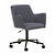 Click to swap image: <strong>Lennox Office Chair-Gunmetal - RRP-$781</strong></br>Base Colour - Black</br>Upholstery Colour - Gunmetal</br>Base Material - Metal</br>Seat Height - 515mm</br>Base Finish - Powdercoated</br>Arm Height - 650-770mm (Adjustable)</br>Chair Max. Weight - 120kg</br>Upholstery Material - Fabric (100% Polyester)</br>Chair Stackable - No