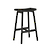 Click to swap image: <strong>Sketch Odd 640 Barstool-Black Onyx </strong></br>Seat Height - 640mm</br>Leg Colour - Black Onyx</br>Leg Material - Solid Oak</br>Seat Colour - Black Onyx</br>Seat Material - Solid Oak