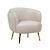 Click to swap image: <strong>Frankie Occ Chair -Cream Rose - RRP-$1847</strong></br>Upholstery Composition - Velvet (100% Polyester)</br>Leg Height - 240mm</br>Seat Max. Weight - 120kgs</br>Seat Height - 480mm</br>Filling Material - Foam Fill</br>Leg Colour - Brass</br>Leg Material - Stainless Steel</br>Upholstery Colour - Cream Rose Velvet