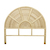 Click to swap image: <strong>Avery Arch Queen Bed Head-Natu - RRP-$1019</strong></br>Leg Height - 580mm</br>Frame Material - Rattan</br>Frame Colour - Natural