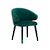 Click to swap image: <strong>Freya Arm Chair-Dark Green Vel - RRP-$754</strong></br>Chair Max. Weight - 120kg</br>Seat Height - 475mm</br>Upholstery Colour - Dark Green Velvet</br>Chair Stackable - No</br>Upholstery Composition - 100% Polyester