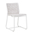 Click to swap image: <strong>Marina Sq Dining Ch-Whit/White </strong></br>Frame Stackable - No</br>Frame Finish - Powdercoated</br>Seat Height - 400mm</br>Weaving Colour - Whiteshell</br>Frame Material - Aluminium</br>Frame Colour - White</br>Weaving Material - Resin Straw</br>Chair Max. Weight - 120kg