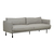 Click to swap image: <strong>Vittoria Sleek 3Str-Grey Tweed - RRP-$5080</strong></br>Upholstery Colour - Grey Tweed</br>Arm Height - 755mm</br>Seat Height - 440mm</br>Upholstery Construction - Upholstery Removable Cover</br>Cushion Construction - Sofa Cushion Profile - Medium</br>Filling Material - Feather & Foam</br>Upholstery Material - 76% Polyester, 15% Arcylic, 9% Viscose</br>Leg Colour - Matte Black</br>Leg Finish - Powdercoated</br>Leg Material - Metal