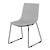 Click to swap image: <strong>Levi Dining Chair-Bk/PearlGrey - RRP-$574</strong></br>Dimensions: - W540 x D585 x H875mm</br>Chair Stackable - No</br>Chair Max. Weight - 225kg</br>Leg Material - Stainless Steel</br>Leg Finish - Powdercoated</br>Leg Colour - Black</br>Seat Height - 470mm</br>Upholstery Material - Fabric (100% Polyester)</br>Upholstery Colour - Pale Grey