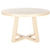 Click to swap image: <strong>Ascot Round Dining Tbl-Natural - RRP-$2379</strong></br>Frame Configuration - Height to underside 705mm</br>Frame Colour - Natural</br>Frame Material - Ash Veneer