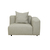 Click to swap image: <strong>Felix Curve 1Str Rit-LunaGrey - RRP-$2717</strong></br>Upholstery Composition - 100% Polyester</br>Upholstery Colour - Luna Grey</br>  - </br>Arm Height - 590mm</br>Seat Height - 390mm</br>Filling Material - High Density Foam - Feather Fill in Scatter Cushions</br>Product Max. Weight - 500kgs</br>Product Configuration - Joining Brackets Included</br>Upholstery Construction - Removable Upholstery Cover</br>Cushion Construction - Sofa Cushion Profile - Medium