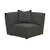 Click to swap image: <strong>Felix Round Corner-Charcoal - RRP-$2139</strong></br>Product Configuration - Joining Brackets Included</br>Cushion Construction - Sofa Cushion Profile - Medium</br>Seat Height - 420mm Seat height</br>Filling Material - Feather and Foam Fill</br>Upholstery Composition - Fabric (100% Polyester)</br>Upholstery Colour - Charcoal Tweed