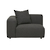 Click to swap image: <strong>Felix Curve 1Str Lft-MeteorGr - RRP-$2717</strong></br>Arm Height - 590mm</br>Cushion Construction - Sofa Cushion Profile - Medium</br>Upholstery Construction - Removable Upholstery Cover</br>Upholstery Colour - Meteor Grey</br>Upholstery Composition - 100% Polyester</br>Seat Height - 390mm</br>Product Max. Weight - 500kgs</br>Filling Material - High Density Foam - Feather Fill in Scatter Cushions</br>Product Configuration - Joining Brackets Included