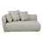 Click to swap image: <strong>Felix Pebble 2 Str Lft-Biscuit - RRP-$3360</strong></br>Filling Material - Feather & Foam</br>Upholstery Construction - Removable Upholstery Cover</br>Cushion Construction - Sofa Cushion Profile - Medium</br>Seat Height - 350mm</br>Upholstery Colour - Biscuit Tweed</br>Upholstery Composition - Fabric (100% Polyester)