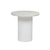 Click to swap image: <strong>Elle Pillar Side Tb-Wh/MtWhite - RRP-$1940</strong></br>Base Colour - White</br>Base Material - Stainless Steel</br>Top Material - Carrara Marble (Italian)</br>Top Colour - White</br>Top Finish - Matt</br>Base Finish - Powdercoated