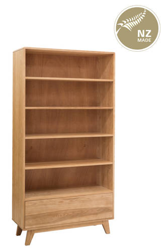 Arco 1000 x 1900 Bookcase - 1 Drawer / 4 adjustable shelf