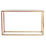 Elle Cube Brass/Glass Console