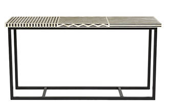 Taj Rectangular Bone Console Table