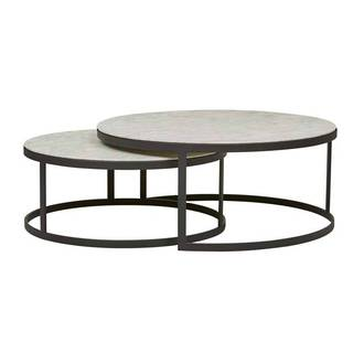Elle Round Nest Flat Coffee Table