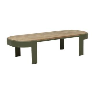 Lagoon Oval Coffee Table-Khaki