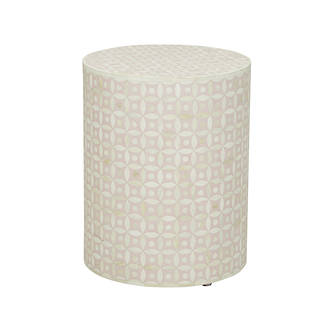 Taj Bone Inlay Eye Side Table