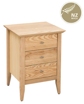 Aria 3 Drawer Narrow Bedside – 500mmWide