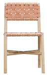Seed Woven Leather Dining Chair